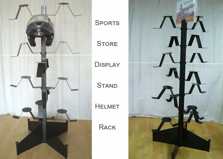 Motorcycle Helmets Metal Clothing Display Rack For Upscal Sport Shore Shop